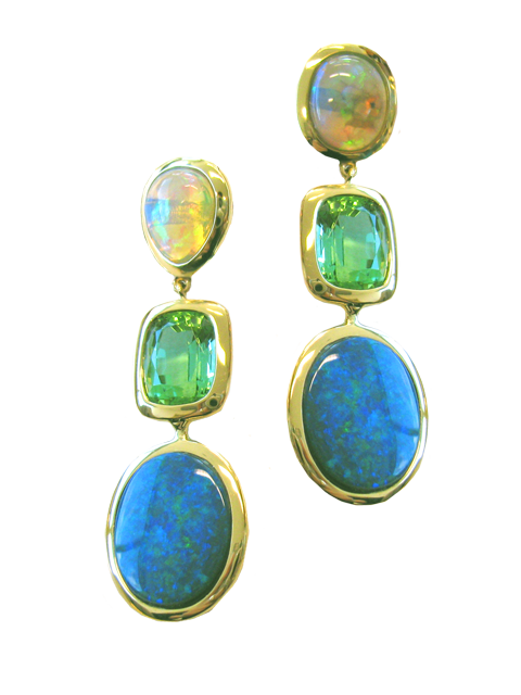 Opal & Tourmaline Earrings-1