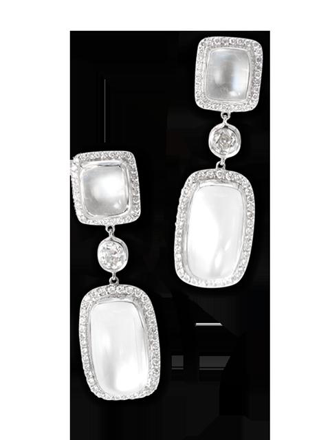 Moonstone & Diamond Earrings-4