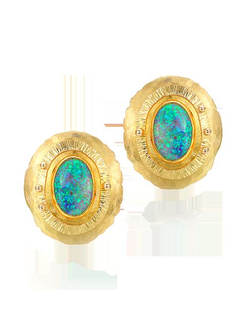 Black Crystal Opal Earrings-1