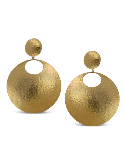 Gold Disc Earrings-1