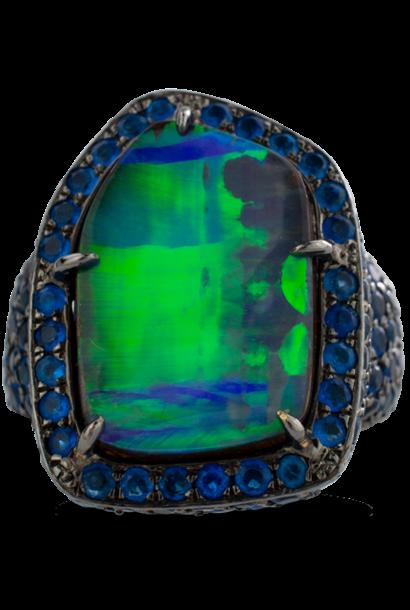 Boulder Opal & Hauynite Ring