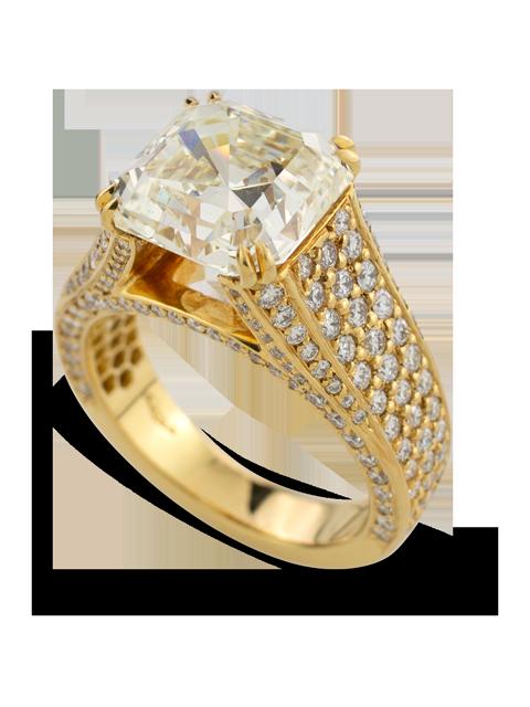 Asscher Cut Diamond Ring-2