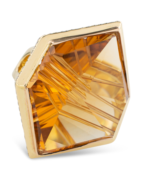 Citrine & Diamond Ring-1