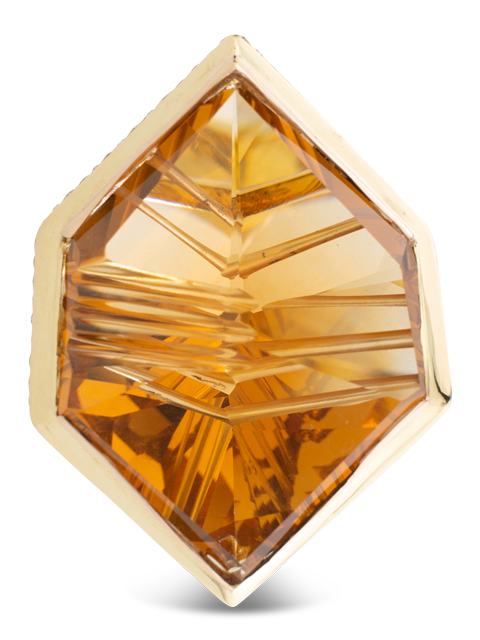 Citrine & Diamond Ring-4