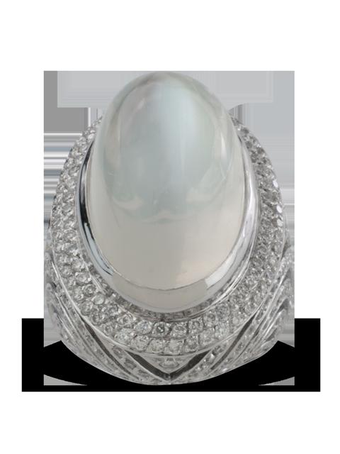 Silver Moonstone Ring-1