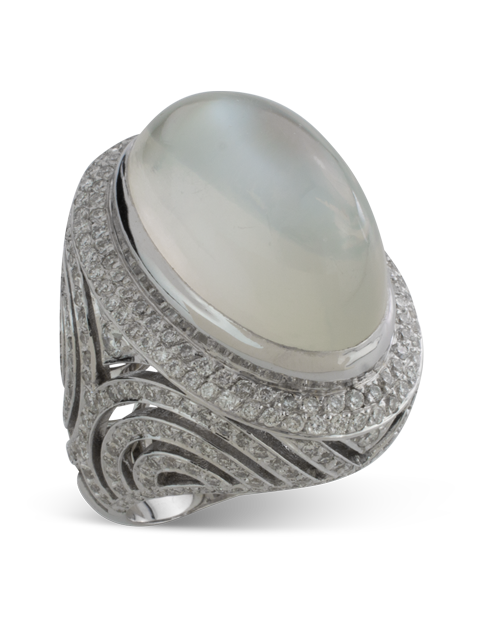 Silver Moonstone Ring-2