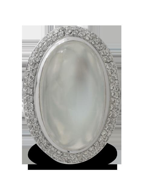 Silver Moonstone Ring-3