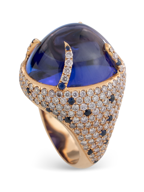 Tanzanite and Diamond Ring-1