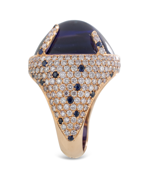 Tanzanite and Diamond Ring-3