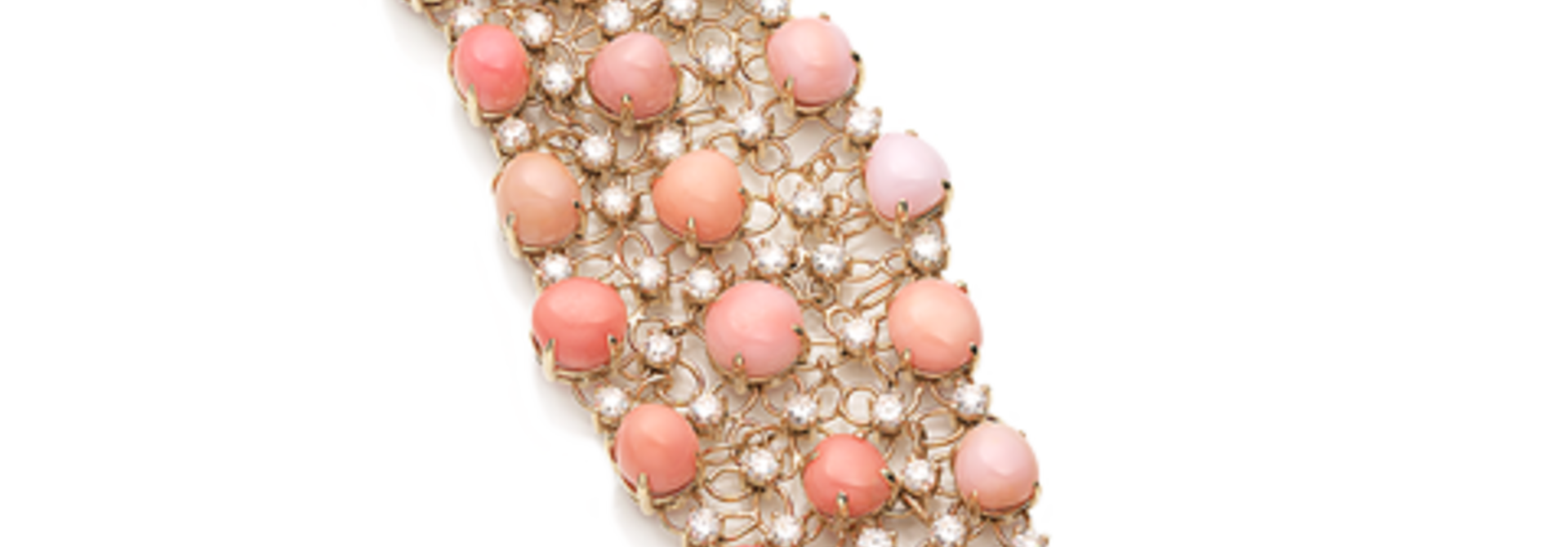 Conch Pearl and Diamond Bracelet