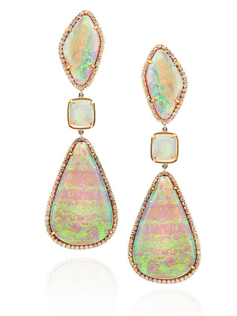 White Crystal Opal Earrings-1