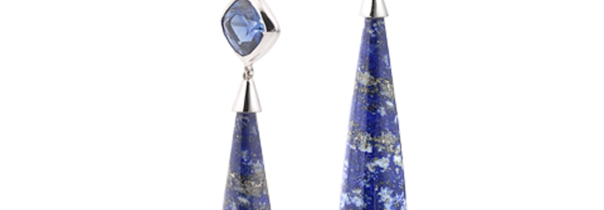 Lapis, Kyanite & Meteorite Earrings