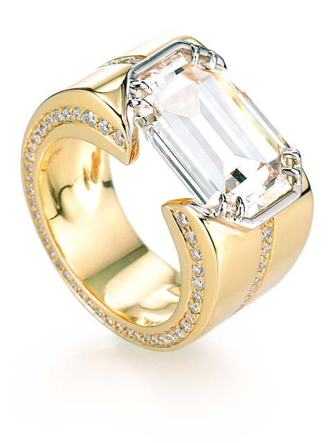 Emerald Cut Diamond Ring-1