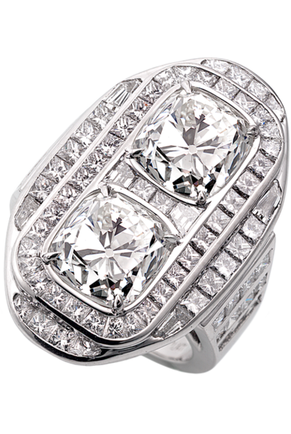 Art Deco Double Diamond Ring
