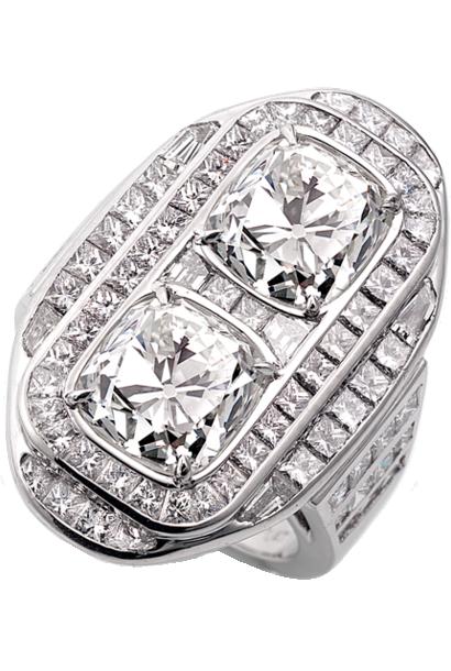 Art Deco Double Diamond Ring