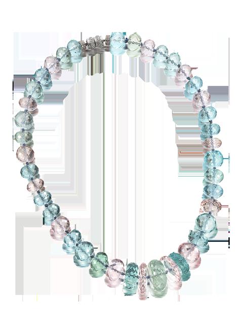 """Multi-Color Beryl Necklace - 20""""-1"""