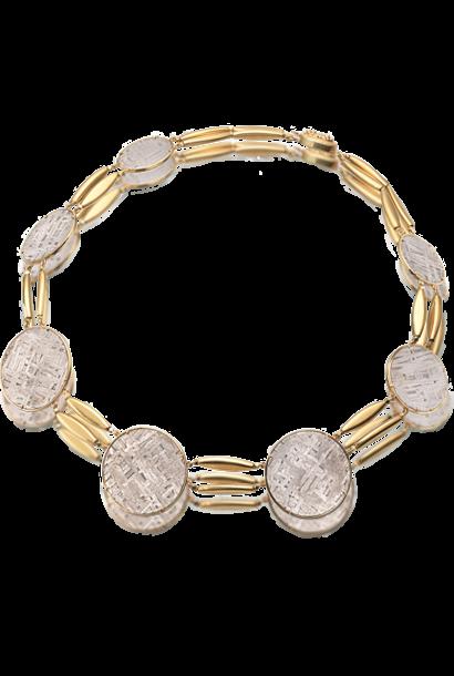 "Meteorite Disc Necklace - 18"""