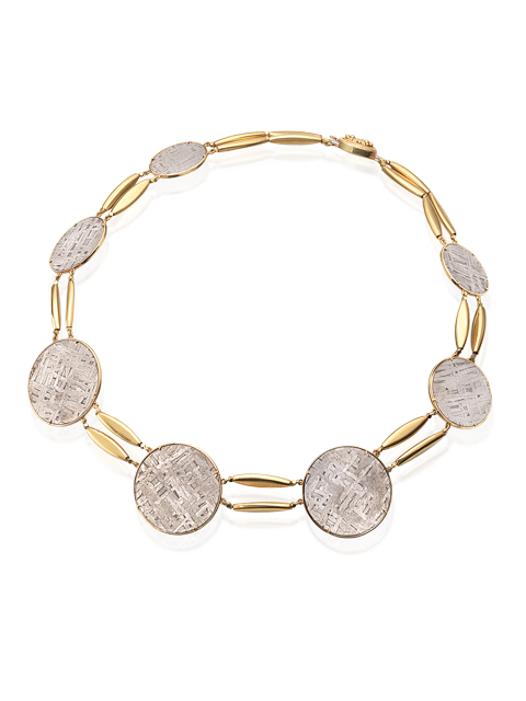 "Meteorite Disc Necklace - 18""-1"