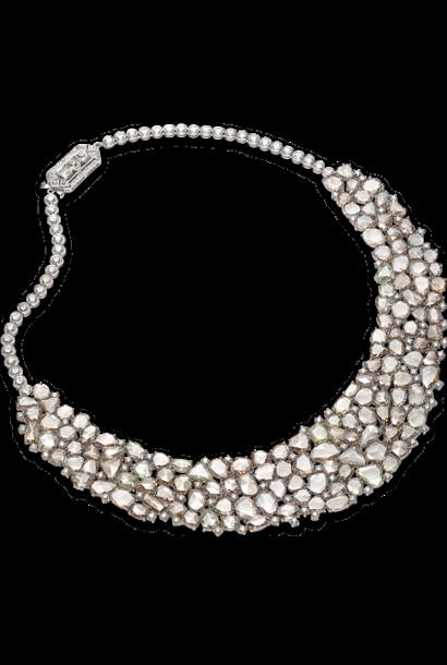 Flat Cut Brown Diamond Necklace