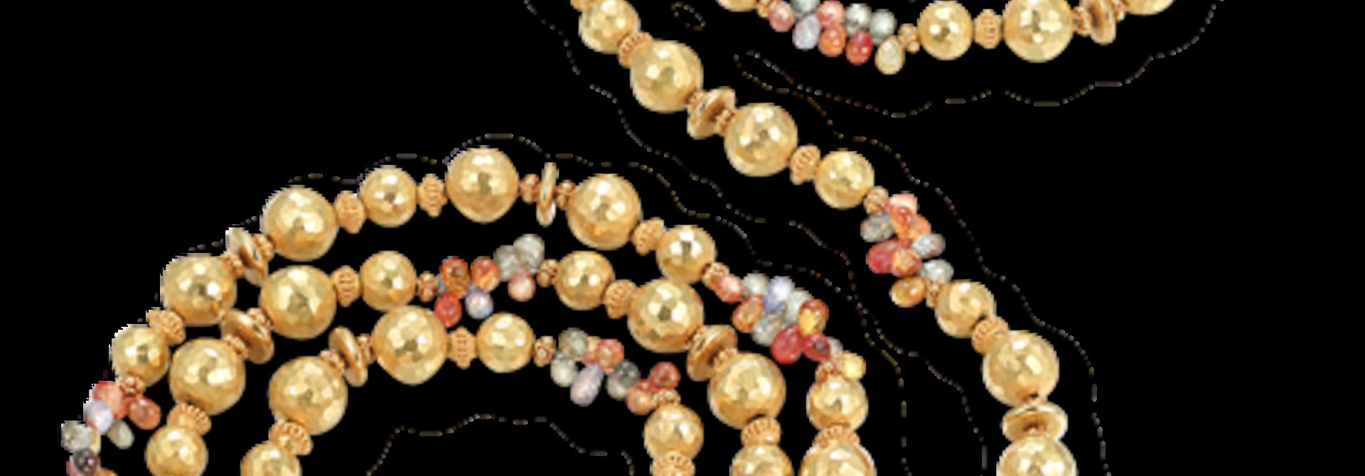 "22k Gold & Sapphire  Necklace - 60"""