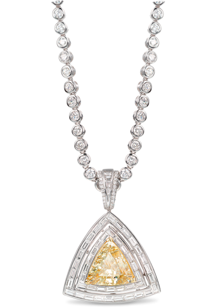 Yellow Diamond Pendant