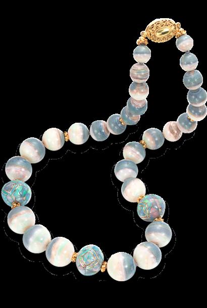"""Mintabie Opal & Mosaic Opal Beads - 22"""""""