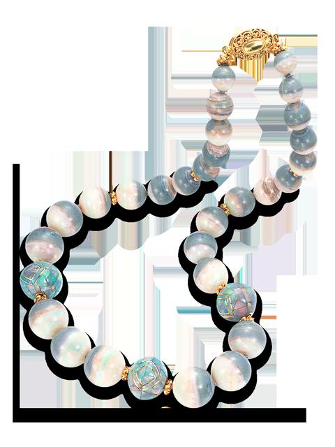 """Mintabie Opal & Mosaic Opal Beads - 22""""-1"""