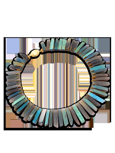 Labradorite Collar Necklace-1