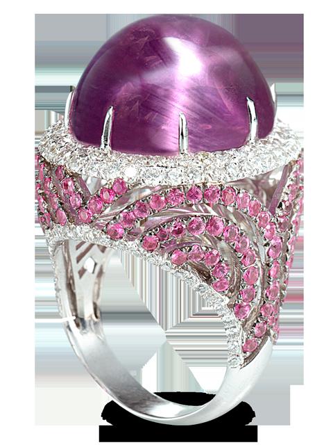 Lavender Star Sapphire Ring-1