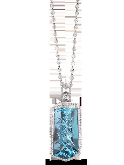 Aquamarine & Diamond Pendant-1
