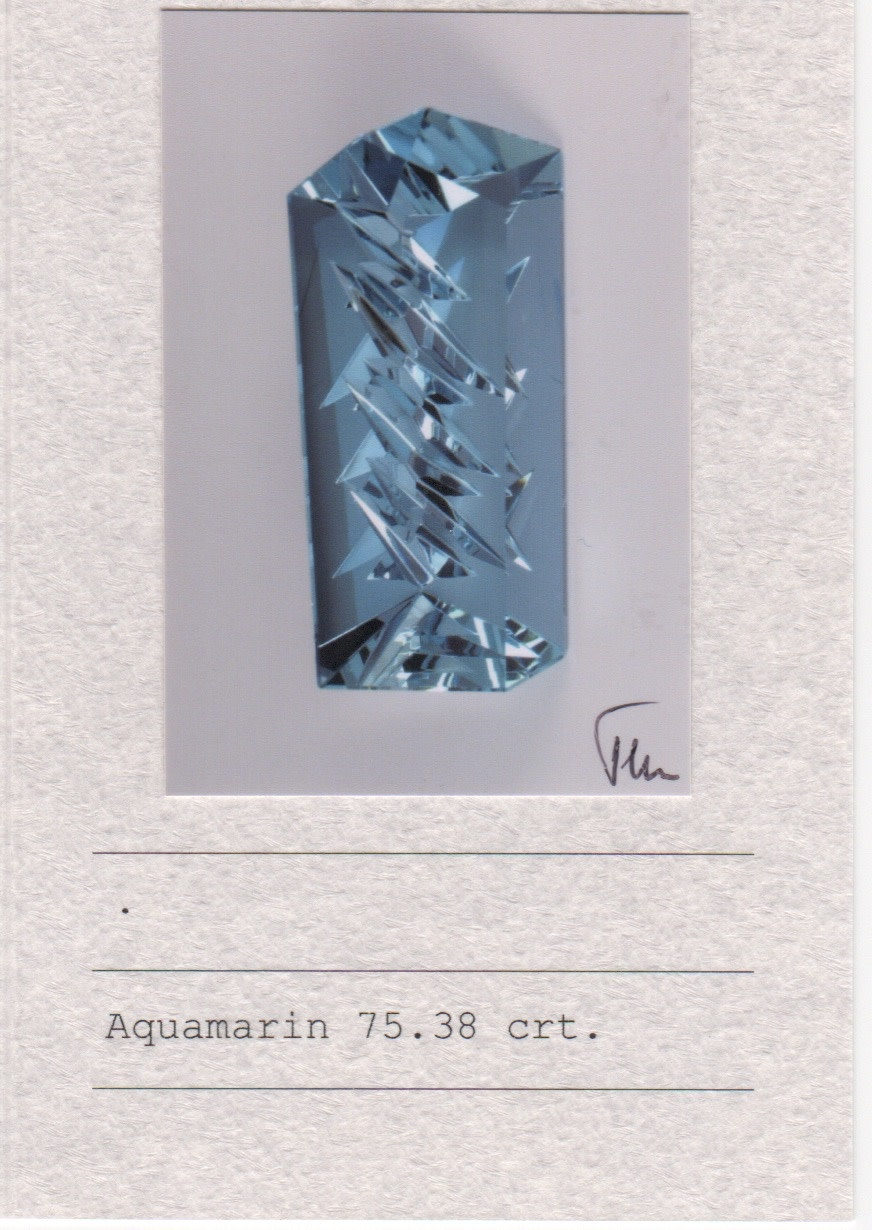Aquamarine & Diamond Pendant-2