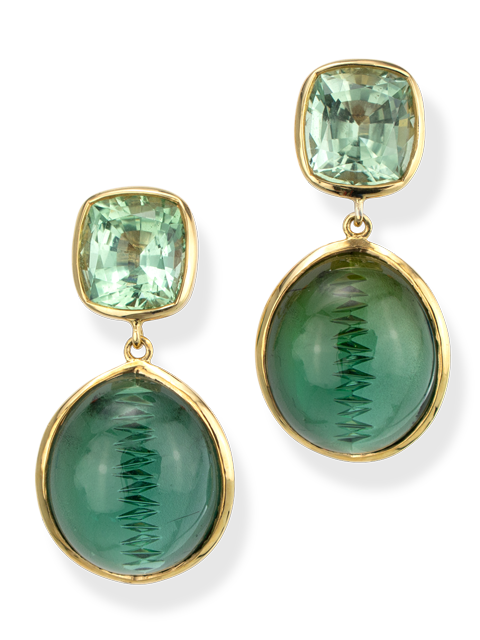 Green Tourmaline Earrings-1