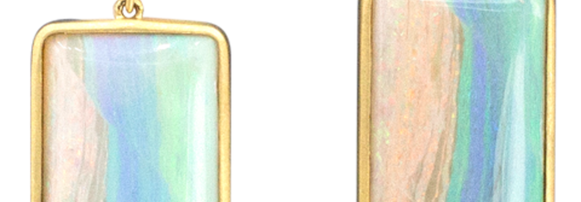 Mintabie and Crystal Opal Earrings