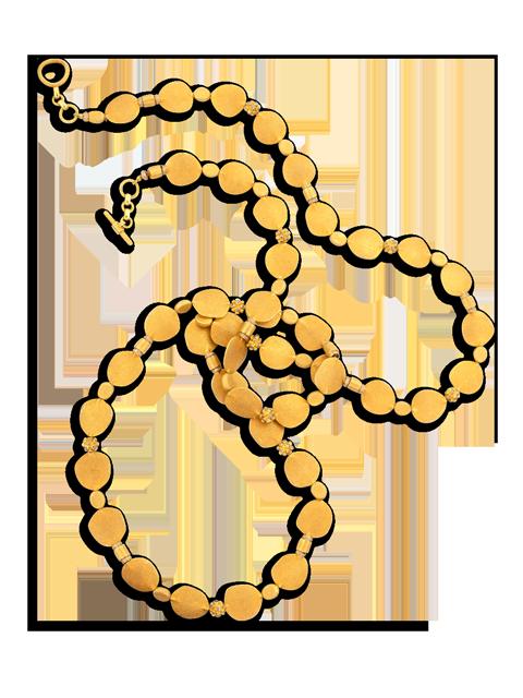 """18k Gold & Diamond Necklace - 48""""-1"""