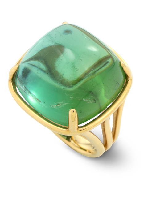 Green Tourmaline Ring-2