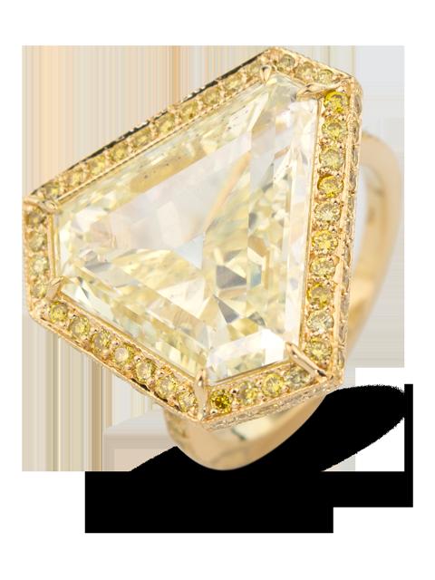 Fancy Yellow Diamond Ring-1