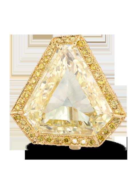 Fancy Yellow Diamond Ring-2