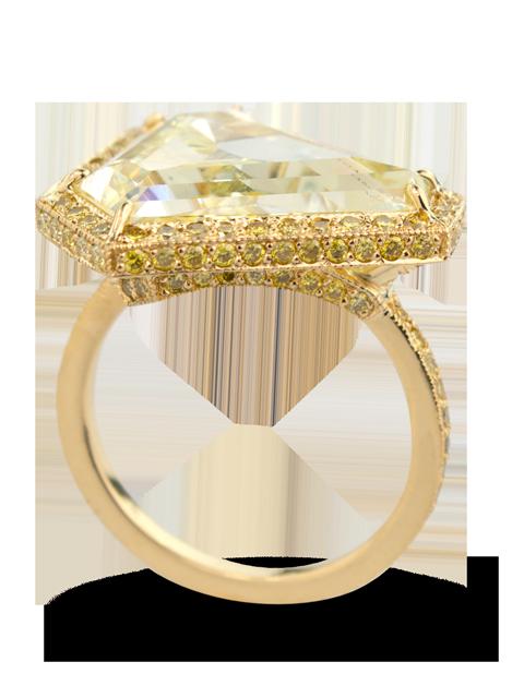 Fancy Yellow Diamond Ring-3