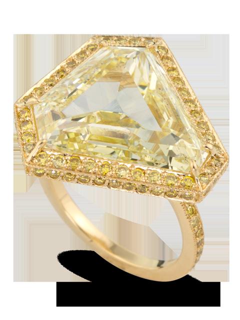 Fancy Yellow Diamond Ring-4