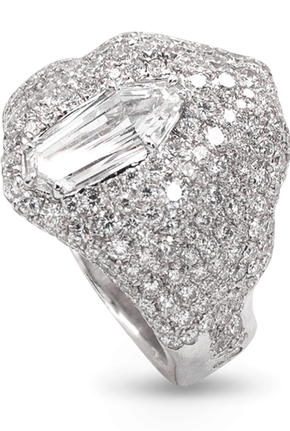 """Ice"" | White Diamond Ring"