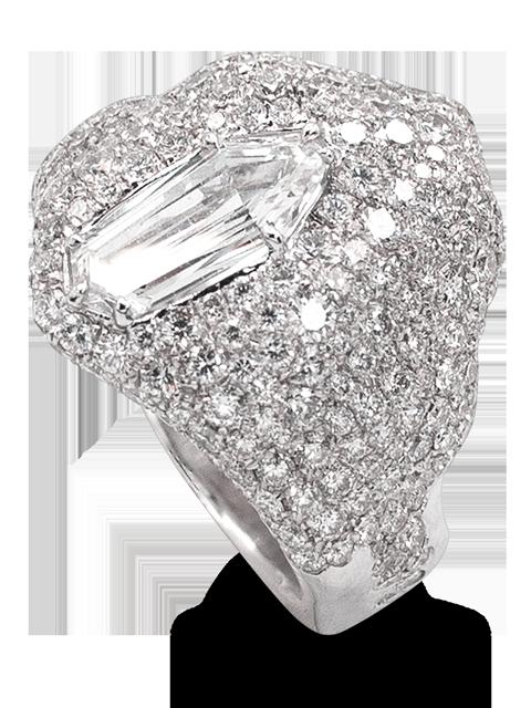 """Ice""   White Diamond Ring-1"