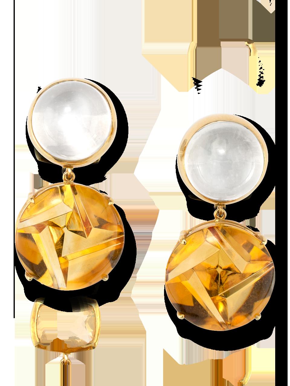 Moonstone & Citrine Earrings-1