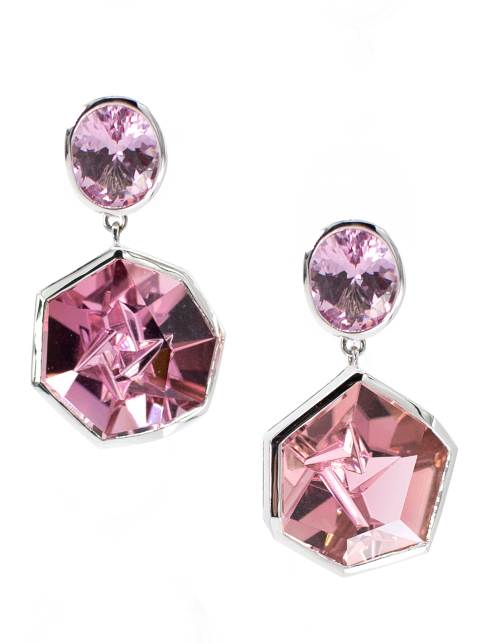 Pink Spinel and Pink Tourmaline Earrings-1