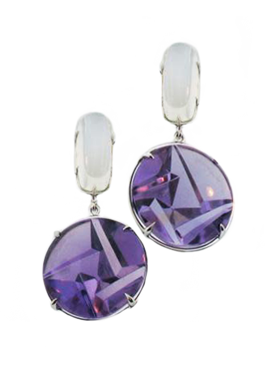 Moonstone and Amethyst Earrings-1
