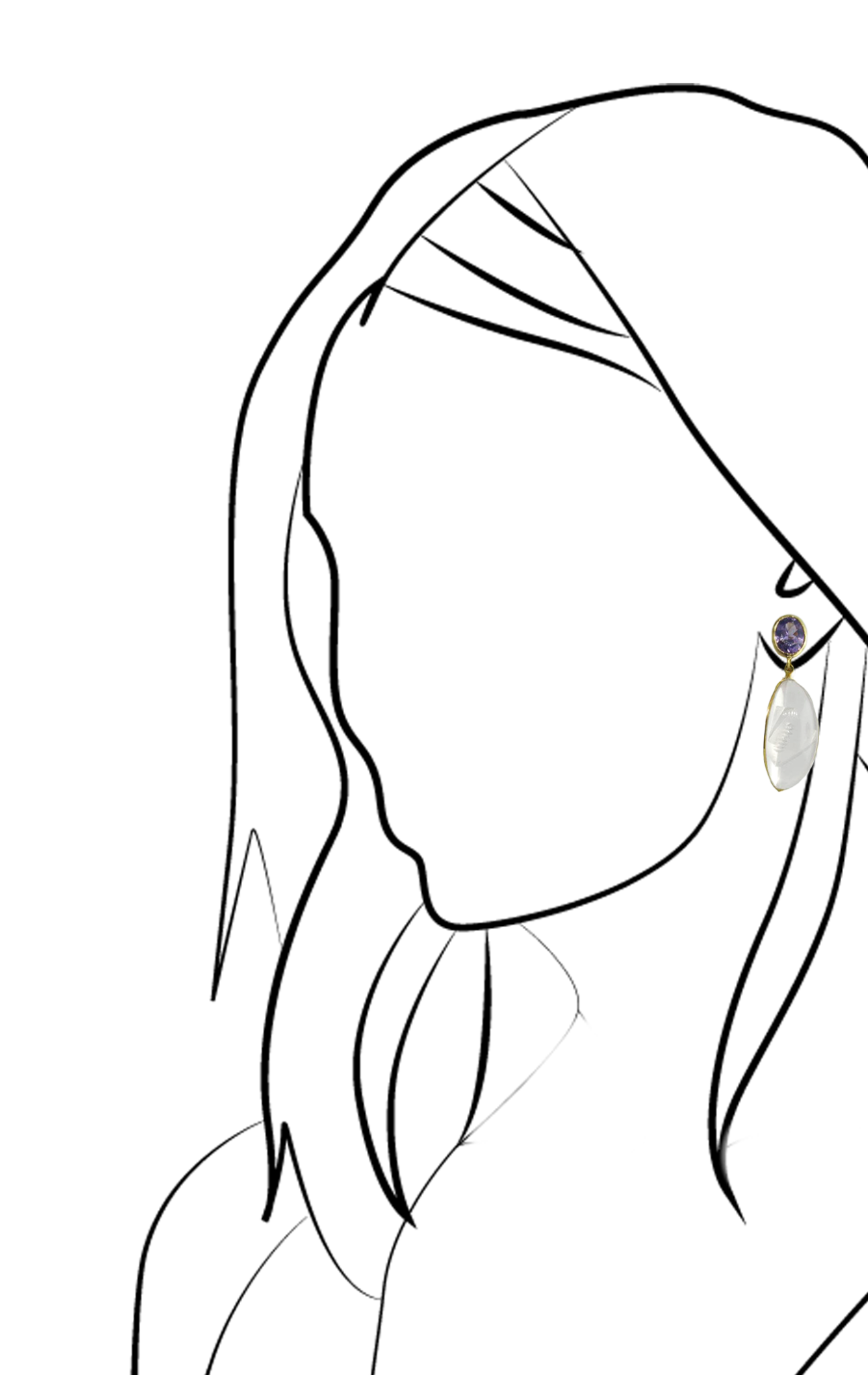 Spinel & Pink Quartz Earrings-2