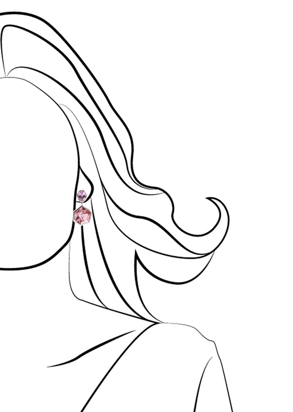 Pink Spinel and Pink Tourmaline Earrings-2