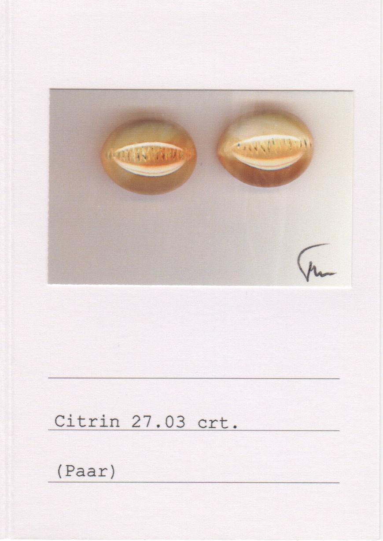 Mandarin Garnet and Citrine Earrings-3