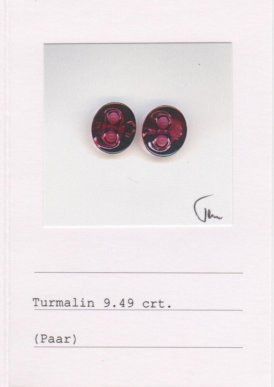 Amethyst and Rubellite Tourmaline Earrings-3