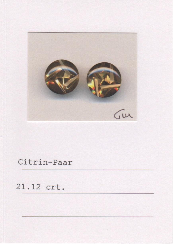Moonstone & Citrine Earrings-3