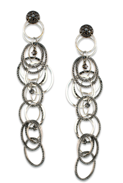 Black Diamond Multi Link Earrings